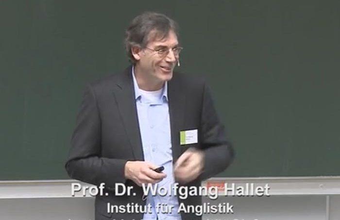 Wolfgang Hallet 2010 beim Eröffnungsvortrag in Wuppertal