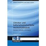 """Buchcover """"Literatur- und kulturwissenschaftliche Hochschuldidaktik. Konzepte, Methoden, Lehrbeispiele"""", Herausgeber Wolfgang Hallet"""